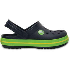Crocs Crocband Clogs Kinder navy/volt green